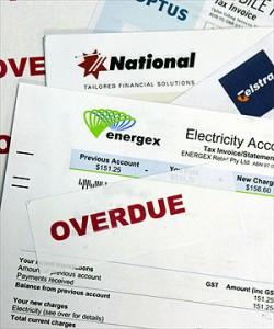 under huge debts